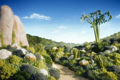 Landscape of Vegetables and Bread by Hartmut Seehuber