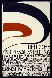 Poster Advertising a War Exhibition Sponsored by the Red Cross Deutsche Kriegsausstellung by Hartung & Co.