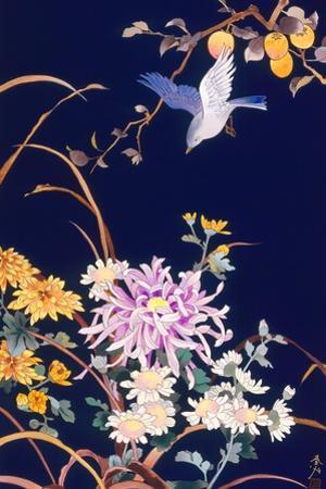Oriental Flowers and Bird by Haruyo Morita