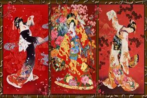 Red Oriental Trio by Haruyo Morita