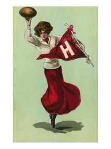 Harvard Cheerleader, Cambridge, Massachusetts