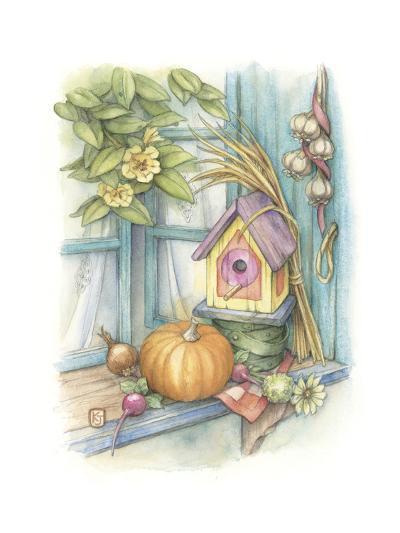 Harvest Birdhouse-Kim Jacobs-Giclee Print
