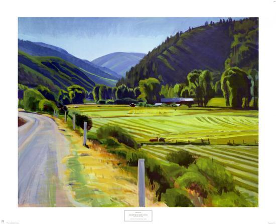 Harvest Brush Creek Canyon-Marcia Burtt-Art Print
