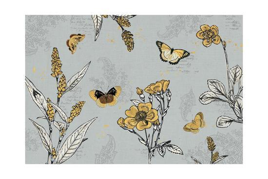 Harvest Fields I Gray-Katie Pertiet-Art Print