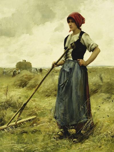 Harvest Time, 1890-Julien Dupre-Giclee Print