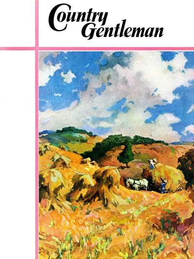 """""""Harvest Wheat,"""" Country Gentleman Cover, September 1, 1940--Giclee Print"""