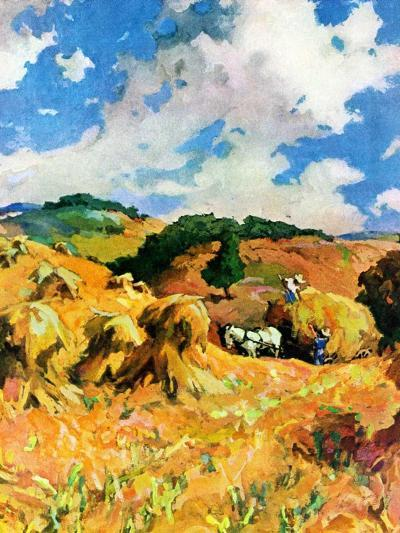 """""""Harvest Wheat,""""September 1, 1940--Giclee Print"""