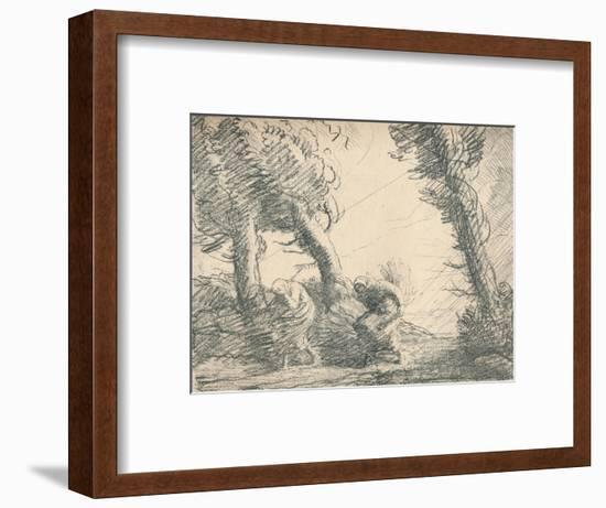 'Harvesters Surprised by the Storm', c1900, (1923)-Alphonse Legros-Framed Giclee Print
