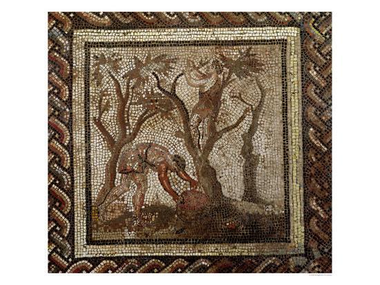 Harvesting Grapes, from Saint-Romain-En-Gal--Giclee Print