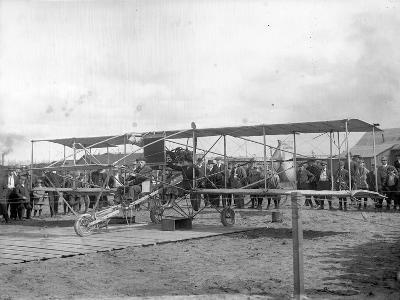 Harvey Crawford and Biplane at Tacoma (September 28, 1912)-Marvin Boland-Giclee Print