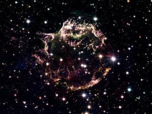 Animation of a supernova explosion to its remnant by Harvey Richer
