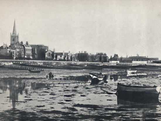 'Harwich - The Beach at Low Tide', 1895-Unknown-Photographic Print