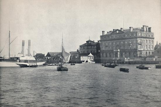 'Harwich - The Quay and Great Eastern Hotel', 1895-Unknown-Photographic Print
