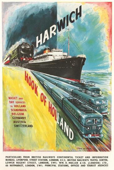Harwich to Hook of Holland Travel Poster--Art Print
