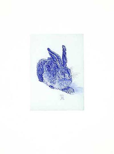 Hase Blau/Hellblau-Albrecht D?rer-Collectable Print