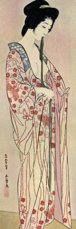 A Japanese Woman Wearing a Nagajuban, 1920
