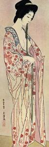 A Japanese Woman Wearing a Nagajuban, 1920 by Hashiguchi Goyo