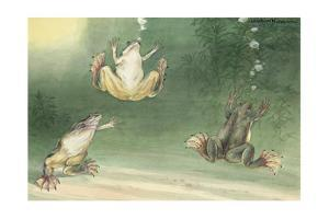 The Aglossa Frogs are Aquatic, Coming Up for Air Every Few Minutes by Hashime Murayama