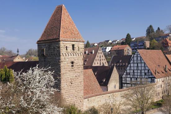 Haspelturm (Hexenturm) Tower, Kloster Maulbronn Abbey, Black Forest, Baden-Wurttemberg, Germany-Markus Lange-Photographic Print