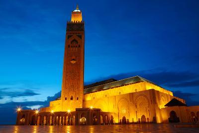 Hassan II Mosque in Casablanca, Morocco Africa-silver-john-Photographic Print