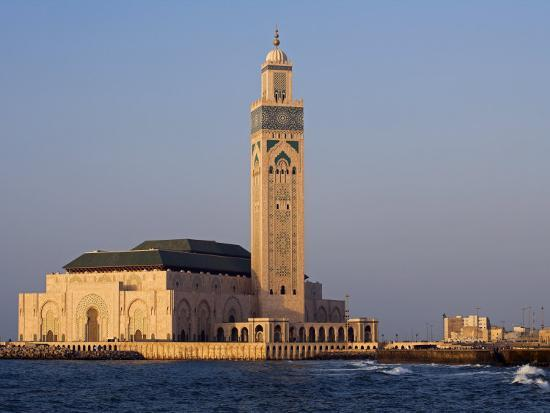 Hassan Ii Mosque in Casablanca, the Third Largest in World after Those at Mecca and Medina, Morocco-Julian Love-Photographic Print