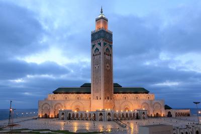 Hassan Ii Mosque in Casablanca-p.lange-Photographic Print