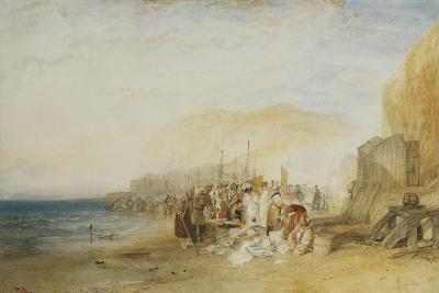 Hastings: Fish Market on the Sands, Early Morning, 1822-J^ M^ W^ Turner-Giclee Print