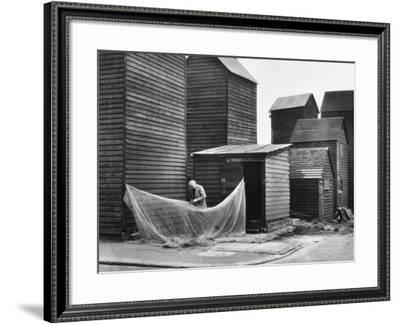 Hastings Fishing Huts--Framed Photographic Print