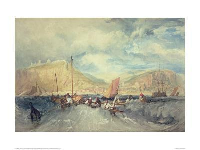 Hastings from the Sea-J^ M^ W^ Turner-Giclee Print