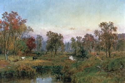 Hastings-On-Hudson, 1885-Jasper Francis Cropsey-Framed Giclee Print