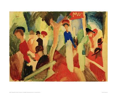 Hat Shop at the Promenade-Auguste Macke-Giclee Print