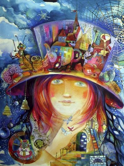 Hat-Oxana Zaika-Giclee Print