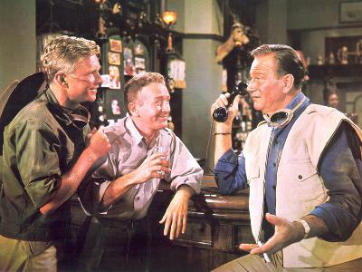 Hatari!, Hardy Kruger, Red Buttons, John Wayne, 1962--Photo
