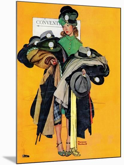 """Hatcheck Girl"", May 3,1941-Norman Rockwell-Mounted Giclee Print"