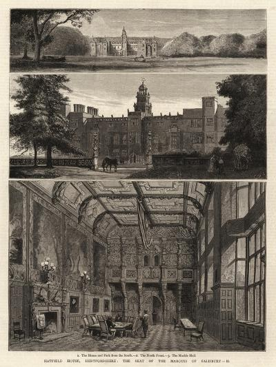 Hatfield House, Hartfordshire, the Seat of the Marquis of Salisbury, Ii--Giclee Print