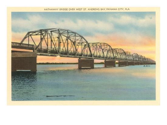 Hathaway Bridge, Panama City, Florida--Art Print
