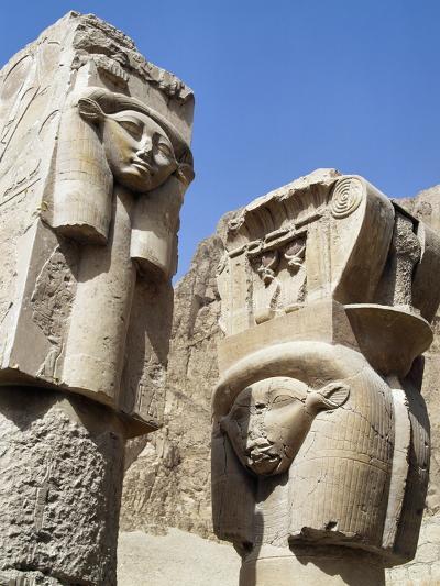 Hathoric Pillars--Photographic Print