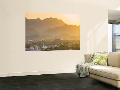 Hatta Village and Hajar Mountains at Sunset-Richard l'Anson-Wall Mural