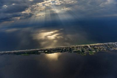 Hatteras Island Forms a Slender Barrier Between the Mainland and the Open Ocean-Keith Ladzinski-Photographic Print