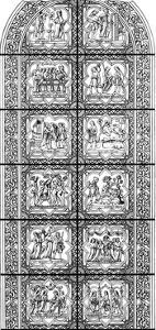 Stained Glass Window, Bourges Cathedral, Bourges, France, 13th Century by Hauger