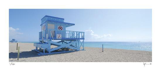 Haulover Beach Lifeguard 1-John Gynell-Giclee Print