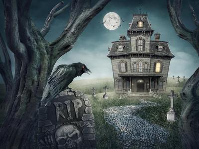Haunted House-egal-Art Print