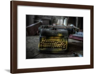 Haunted Interior with Typewriter-Nathan Wright-Framed Photographic Print