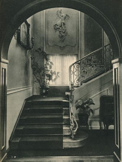 Haus H., Dresden: The Staircase. Designed by Professor E Haiger-Unknown-Photographic Print