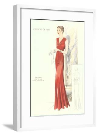 Haute Couture Evening Gown--Framed Art Print