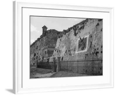 Havana, Cuba, Execution Wall in Cabanas--Framed Photo
