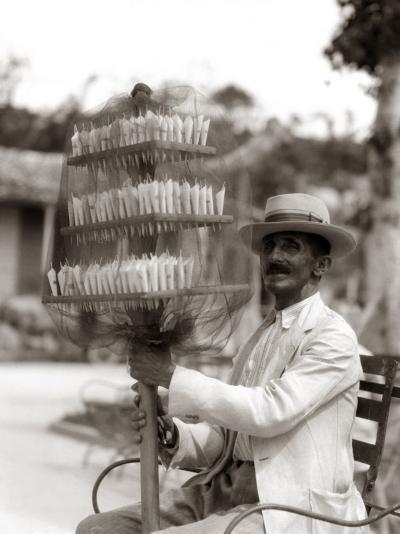 Havana Cuba Local Man Candyman Holding Three Tier-H^ Armstrong Roberts-Photographic Print