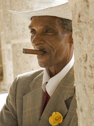 Havana, Cuban Man, Plaza De La Catedral, Havana, Cuba-Paul Harris-Photographic Print