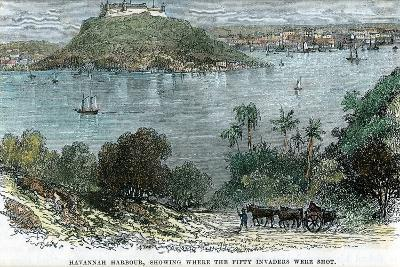 Havannah Harbour, Showing Where the Fifty Invaders Were Shot, Cuba, C1880--Giclee Print