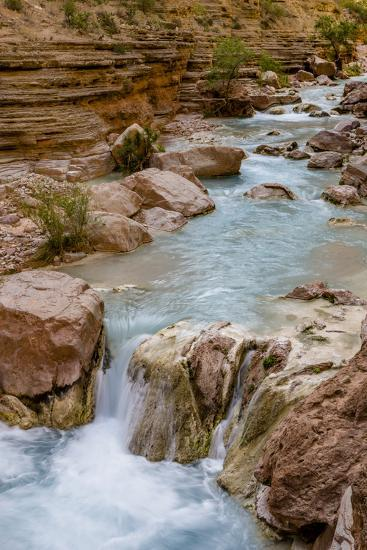 Havasu Creek. Mineral Colored Water. Grand Canyon. Arizona. USA-Tom Norring-Photographic Print